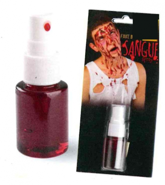 costume di carnevale SANGUE FINTO SPRAY
